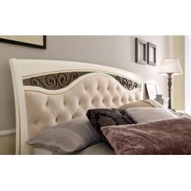 Кровать с мягким изголовьем, ковкой и изножьем Palazzo Ducale Laccato Prama 140 см