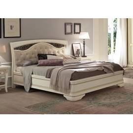Кровать Palazzo Ducale Laccato Prama 160х200 с мягким изголовьем ковкой без изножья 71BO74LT