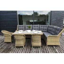 Лаунж-зона 4SIS Бергамо серо-коричневая плетёная со столом