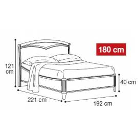 Кровать Nostalgia Camelgroup 180х200, 085LET.34NO