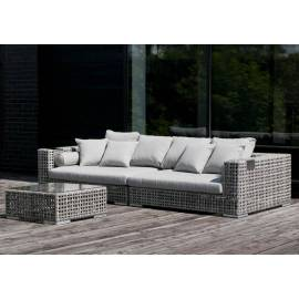 Лаунж-зона 4SIS Канти серая плетёная со столом и диваном
