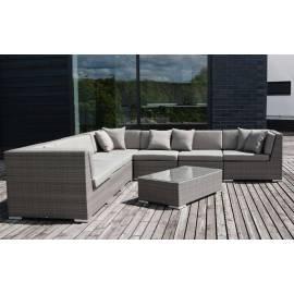 Лаунж-зона 4SIS Беллуно с плетёными диваном и столиком серо-коричневого цвета