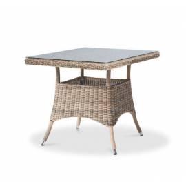 Плетёный обеденный стол 90х90 4SIS Айриш квадратный соломенного цвета