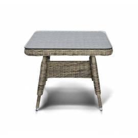 Плетёный обеденный стол 90х90 4SIS Венето малый соломенного цвета