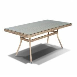 Плетёный обеденный стол 160х90 4SIS Латте соломенного цвета