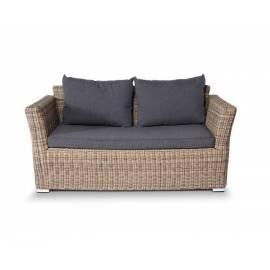 Двухместный плетёный диван 4SIS Капучино соломенного цвета