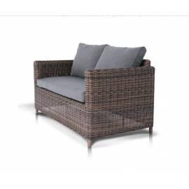 Двухместный плетёный диван 4SIS Макиато темно-коричневый