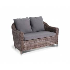 Двухместный плетёный диван 4SIS Кон Панна темно-коричневый