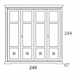 Шкаф 4-дверный Prama Bohemia