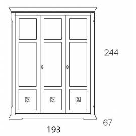 Шкаф 3-дверный Prama Bohemia