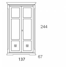 Шкаф 2-дверный Prama Bohemia