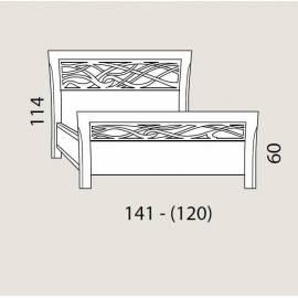 Кровать 120 см Prama Bohemia с резным изголовьем