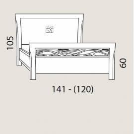 Кровать 120 см Prama Bohemia изголовье экокожа
