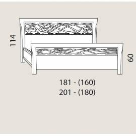 Кровать 180 см Prama Bohemia с резным изголовьем