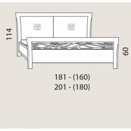 Кровать 180 см Prama Bohemia изголовье экокожа