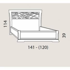 Кровать 120 см Prama Bohemia с резным изголовьем без изножья