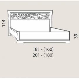 Кровать 160 см Prama Bohemia с резным изголовьем без изножья