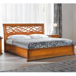 Кровать 180 см Prama Bohemia с резным изголовьем без изножья