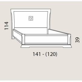 Кровать 120 см Prama Bohemia изголовье экокожа без изножья