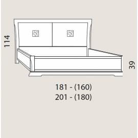 Кровать 160 см Prama Bohemia изголовье экокожа без изножья