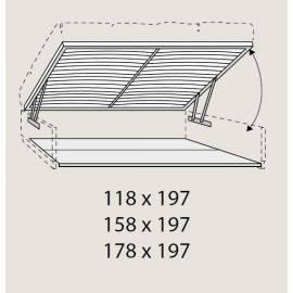 Бельевой ящик 120 см Prama Bohemia с подъемным механизмом