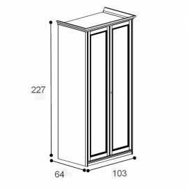 Шкаф 2-дверный San Michele Beverly