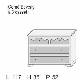 Комод низкий 3 ящика San Michele Beverly