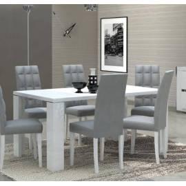 Стол обеденный 160 см Status Elegance White со стеклом прямоугольный