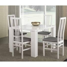 Стол обеденный 120 см Status Elegance White со стеклом прямоугольный