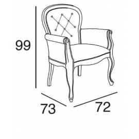 Кресло Panamar с мягкими подлокотниками 429.072.P