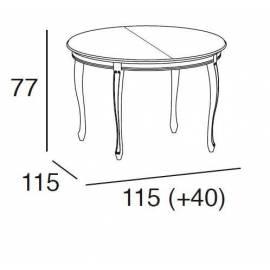 Стол обеденный 115/155 Panamar, круглый раздвижной 405.115.P