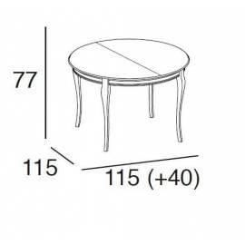 Стол обеденный 115/155 Panamar, круглый раздвижной 403.115.P