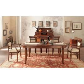 Стол обеденный 210/300 Palazzo Ducale Ciliegio Prama, овальный раздвижной 71CI58