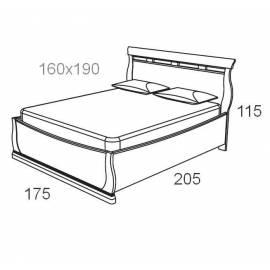 Кровать 160 см Maronese Venere avorio без изножья