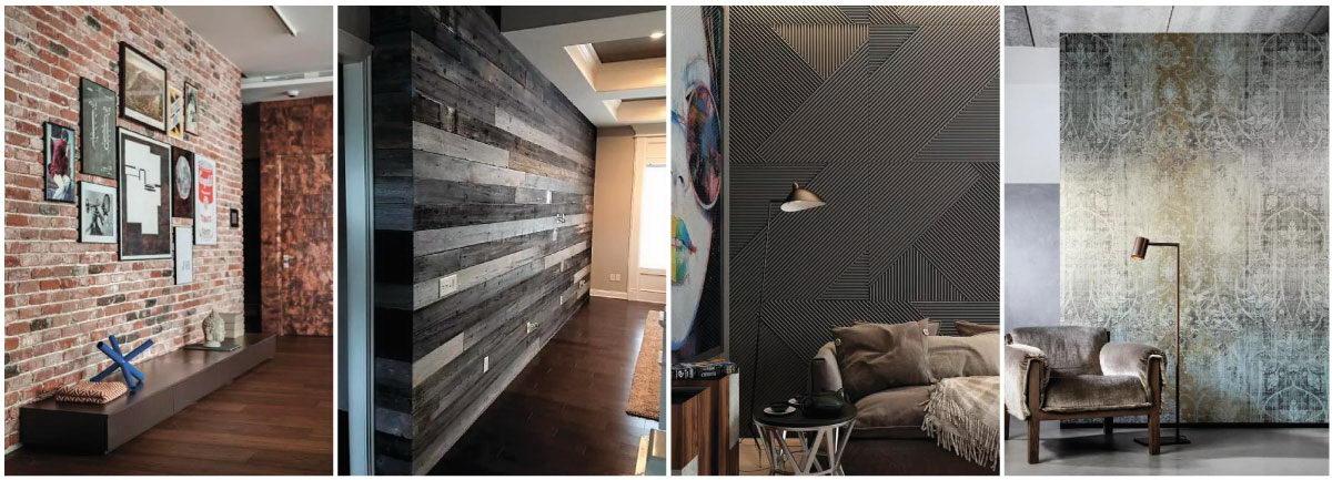 Варианты отделки стен в стиле Лофт