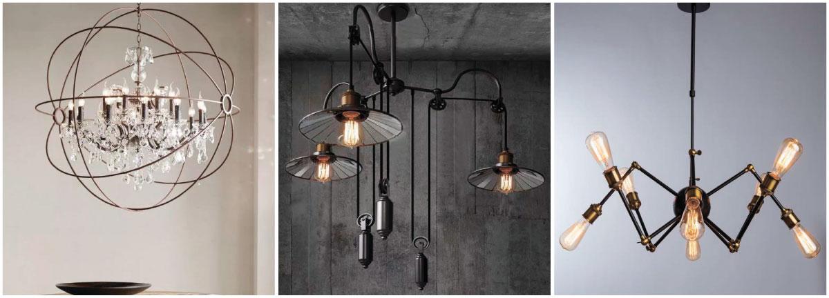 Люстры и светильники в стиле лофт